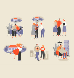 couple buying a new home vector image