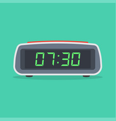 digital alarm clock isolated on white background vector image