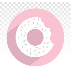 Donuts doughnut with chocolate sprinkles - flat vector