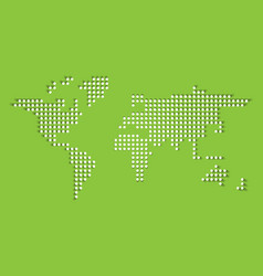 dotted world map white dots with dropped shadow vector image