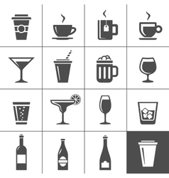 Drinks and beverages icons vector image