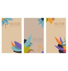 floral decorative front page cover book vector image