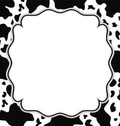 frame with cow skin texture vector image