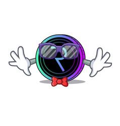 Geek request network coin character cartoon vector
