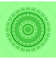 Green Circle Lace Ornament vector image