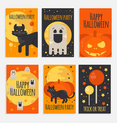 Halloween party banners cards and posters vector