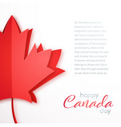 happy canada day greeting card elegant template vector image