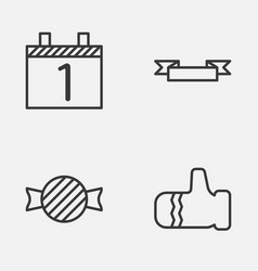 Happy icons set collection of toffee candy vector