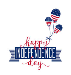 Happy Independence Day July 4th Fourth vector image