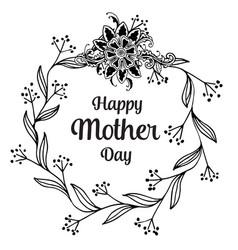 Happy mother day background flower design vector