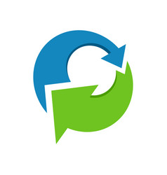 healthy eco friendly recycling symbol design vector image