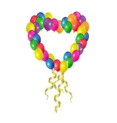 heart of balloons vector image