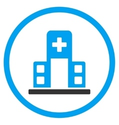 Hospital Building Rounded Icon vector
