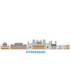 India hyderabad line cityscape flat vector
