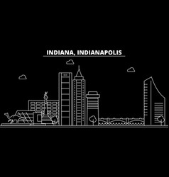 indianapolis silhouette skyline usa vector image