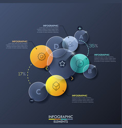 Infographic design layout with separate circular vector