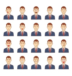 Large set of male emotions vector
