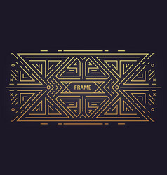 luxury antique art deco geometric linear vector image