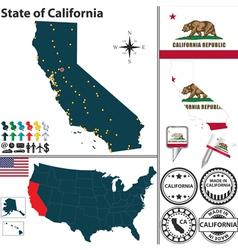 Map california vector