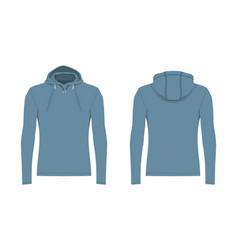 Mens blue hoodie vector