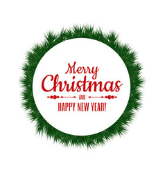 merry christmas and happy new year christmas vector image