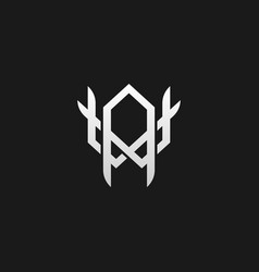 Monogram wa aw w a logo in a modern line style vector