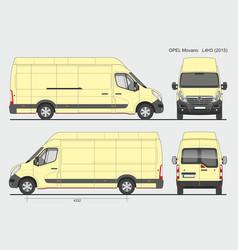 Opel movano cargo delivery van 2015 l4h3 vector