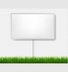 Outdoor advertising display with transparent vector