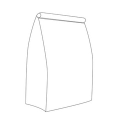 paper bag line draw front vector image