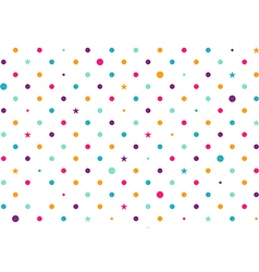 Pastel Colorful Dots White Background vector