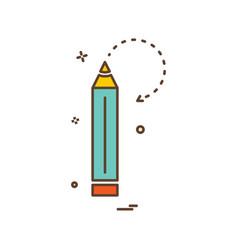 pencil school stationery icon design vector image