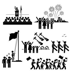 people celebrating national day independence vector image