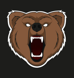 Raring head bear vector