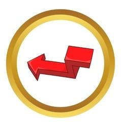 Red broken arrow icon vector