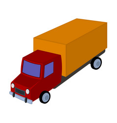 red truck with a yellow body the car for cargo vector image vector image