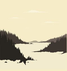 River mountain vector