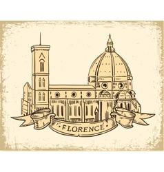 Santa Maria del Fiore Florence vector