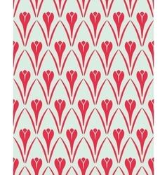 Seamless floral pattern Flower Crocus vintage vector image