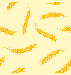 seamless pattern simple ears of wheat on vector image