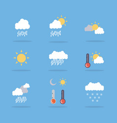 Set of weather flat art vector