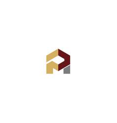 Shape building business company logo vector