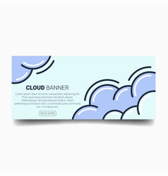 simple cloud smoke banner vector image