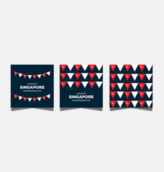 Singapore country flag graphic set vector
