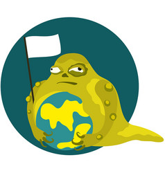 slime monster is attacks a world vector image