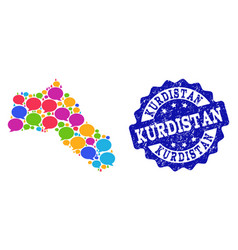 Social network map of kurdistan with speech vector