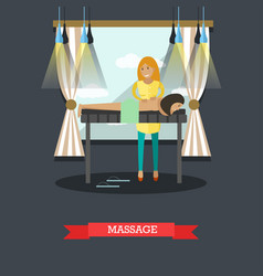 Spa massage procedures concept vector