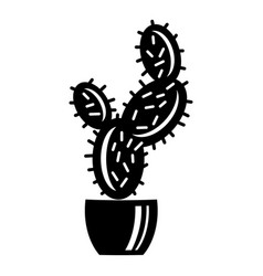 spike cactus icon simple style vector image