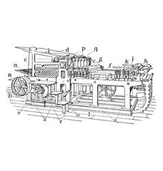 Stop cylinder machine vintage vector