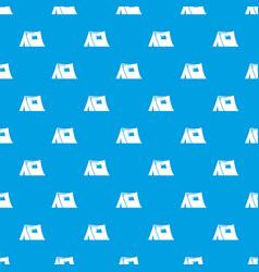 tourist tent pattern seamless blue vector image