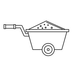Truck icon outline style vector